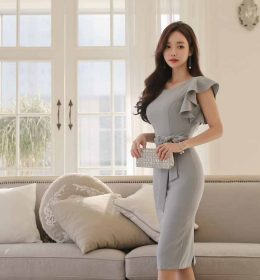 DRESS PESTA IMPORT CANTIK ELEGANT 2018