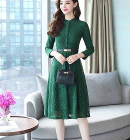 DRESS PESTA WANITA BROKAT IMPORT 2018