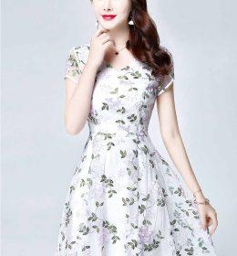 DRESS PESTA WARNA PUTIH TERBARU IMPORT KOREA