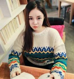 JUAL SWEATER IMPORT MODEL TRIBAL KOREA