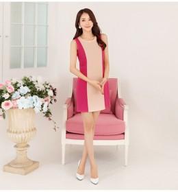 MINI DRESS IMPORT LENGAN BUNTUNG PINK