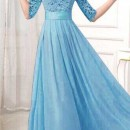 JUAL LONG DRESS GAUN IMPORT BIRU 2016