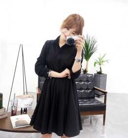 JUAL DRESS HITAM LENGAN PANJANG IMPORT ONLINE