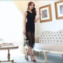 LONG DRESS KOREA HITAM CANTIK