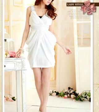 Mini Dress Pesta Wanita Putih Cantik Model Terbaru Jual Murah