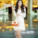 DRESS BROKAT KOREA CANTIK