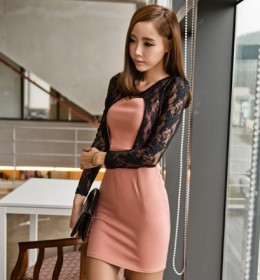 DRESS KOREA BROKAT CANTIK