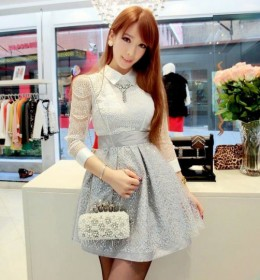 DRESS PESTA WANITA BROKAT
