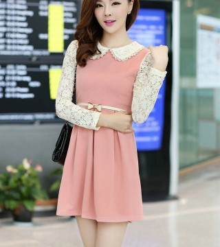Mini Dress Korea Lengan Panjang Model Terbaru Jual Murah