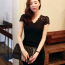DRESS HITAM BROKAT KOREA 2014