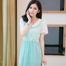 MINI DRESS KOREA SIFON BUNGA BIRU