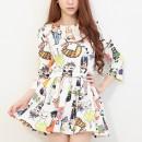 BAJU DRESS WANITA KOREA LUCU