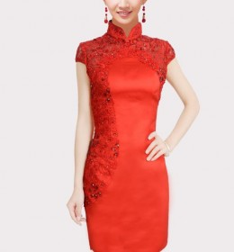 BAJU DRESS CHEONGSAM IMLEK MODERN 2015