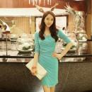 DRESS KOREA KERAH V MODEL TERBARU 2015