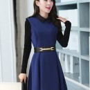 DRESS KOREA CANTIK LENGAN PANJANG
