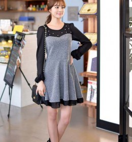 MINI DRESS KOREA LENGAN PANJANG 2015