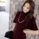 DRESS MERAH ELEGANT ONLINE TERBARU KOREA