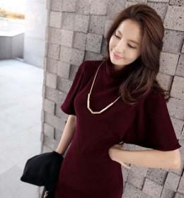 DRESS MERAH ELEGANT ONLINE TERBARU KOREA