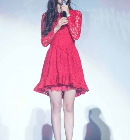 MINI DRESS KOREA MERAH LENGAN PANJANG MODERN