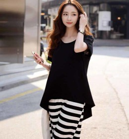 DRESS SIMPLE KOREA CANTIK 2016 TERBARU