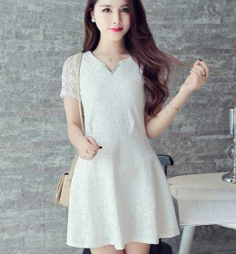 MINI DRESS KOREA LENGAN PENDEK 2016 TRENDY