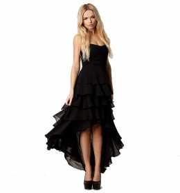 DRESS RENDA PESTA HITAM ELEGANT 2016