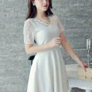 dress-putih-lengan-pendek-korea-2016-modern