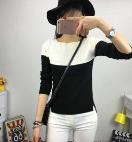 baju-sweater-putih-hitam-cantik-2016