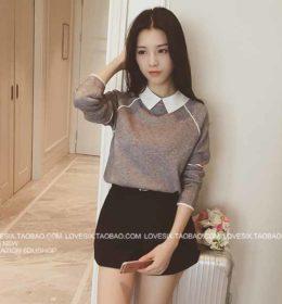 baju-wanita-gray-simple-cantik-terbaru