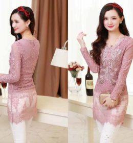 blouse-brokat-pink-lengan-panjang-2016-terbaru