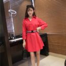 dress-natal-lengan-panjang-simple-2016-korea