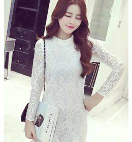 jual-dress-putih-brokat-cantik-online