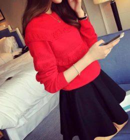 sweater-merah-lengan-panjang-terbaru-2016