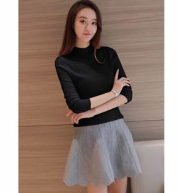 turtleneck-sweater-hitam-casual-2016-modis