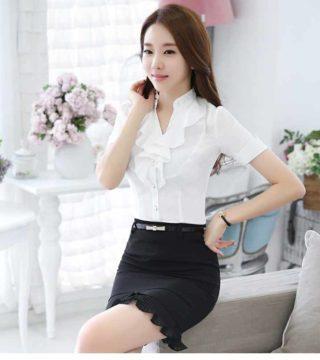 17 Model Batik Kerja Wanita Modern Terupdate 2019 Desain Baju. Fitur baju  original blouse ashyanti blus atasan ... 281ee76b59