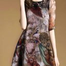 DRESS WANITA KOREA MOTIF CANTIK IMPORT TRENDY