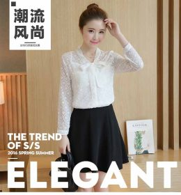 BLOUSE PUTIH MODEL PITA CANTIK TERBARU IMPORT