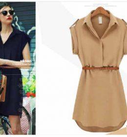 DRESS SIMPLE WANITA KOREA TERBARU 2018
