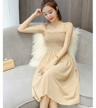 Dress Wanita Korea Cantik Terbaru 2018 Model Terbaru Jual Murah